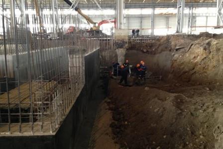 Строительство фундаментов под металлургическое оборудование